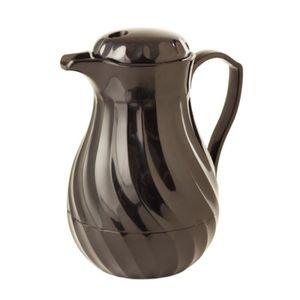 Pichet en inox brossé 1 litre   Pot à eau    Solide et stable  H 20 cm Carafe