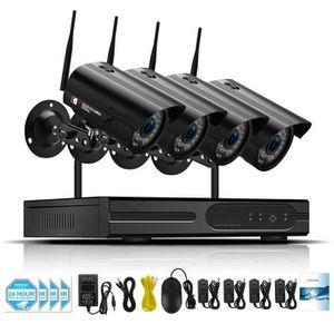 CAMÉRA DE SURVEILLANCE 1 To HDD Kit de vidéosurveillance Aduio 4CH 1080P