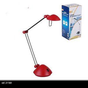LAMPE A POSER ROUGE ECLAIRAGE LAMPE A POSER DE BUREAU ARTICULE D