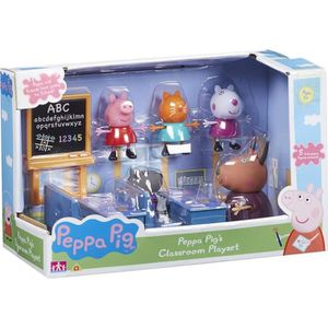 FIGURINE - PERSONNAGE Peppa Pig Classroom Playset Avec 5 Figures