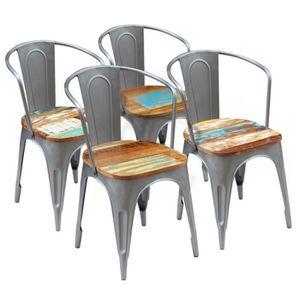 CHAISE Homgeek Lot de 4 Chaises de salle à manger Style I