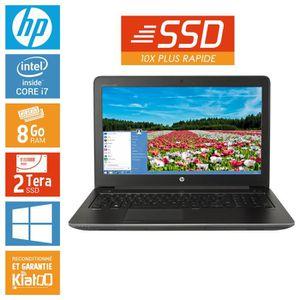Achat PC Portable HP ZBOOK 15 core i7 8 go ram 2 To disque dur SSD drives , ordinateur portable 15 pouces pas cher