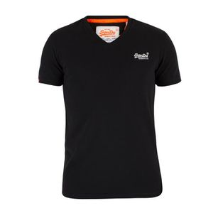 T-SHIRT Superdry Homme Orange Vintage Label V-Neck Logo T-