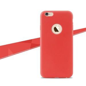 iphone 6 coque silicone rouge