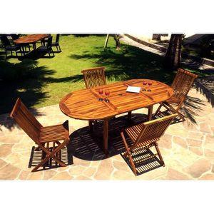 SALON DE JARDIN  salon Bali 4-8 personnes en teck huilé pour l'e…