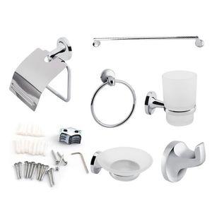 SET ACCESSOIRES 6pcs outil de salle de bain Porte-serviettes+Annea