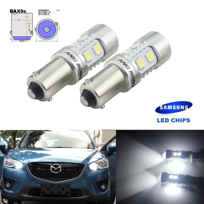 2x Ampoules BAX9s H6W SAMSUNG 10 SMD LED Indicateur Pour Citroen C4 Grand Picasso I C5