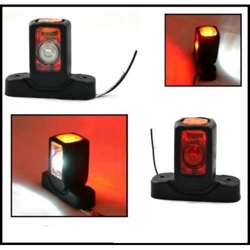 8X 24V LED Rouge Blanc Orange Feux de Gabarit Pour Camion Remorque Fourgon Van