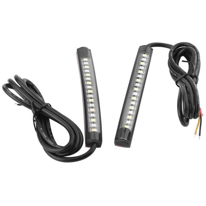 LIA 1 paire de motos flexible 17 SMD LED feu arrière bande de frein clignotant