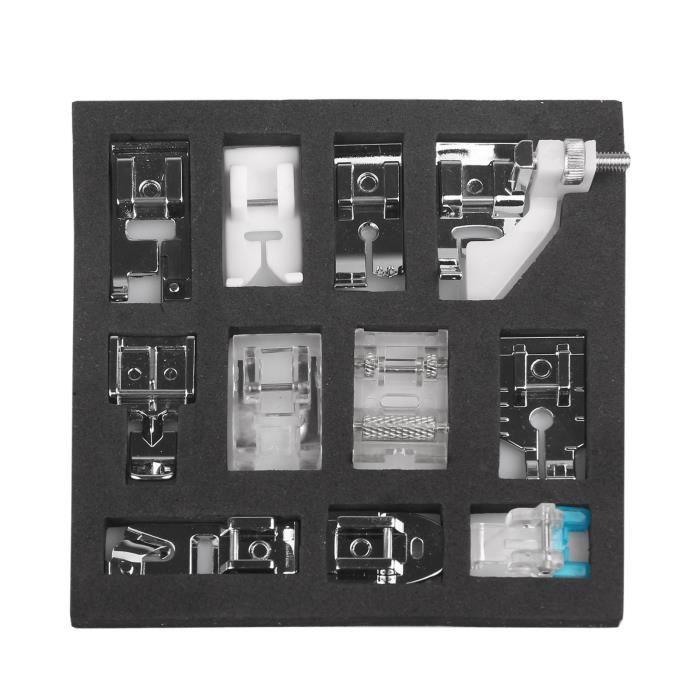 11pcs Multifonctions Pied presseur Pièces de rechange Accessoires pour Machine à coudre Brother Singer Janome Juki IKEA