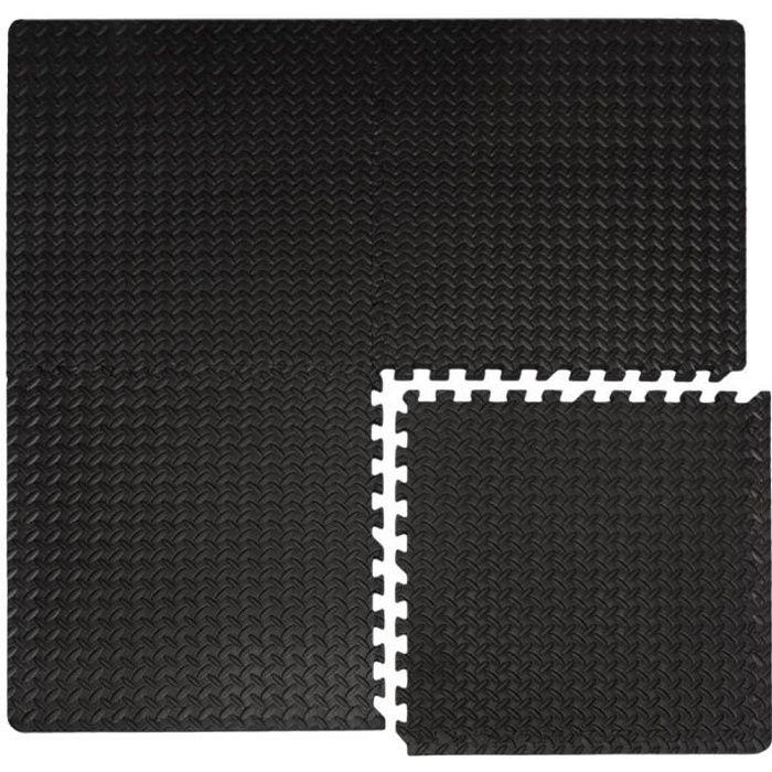 Tapis de Sol - 4 Tapis Puzzles plus 8 Cadres - Durable Mousse EVA - Idéal pour pratiquer la Gymnastique Yoga Judo etc. - Epaisseu...