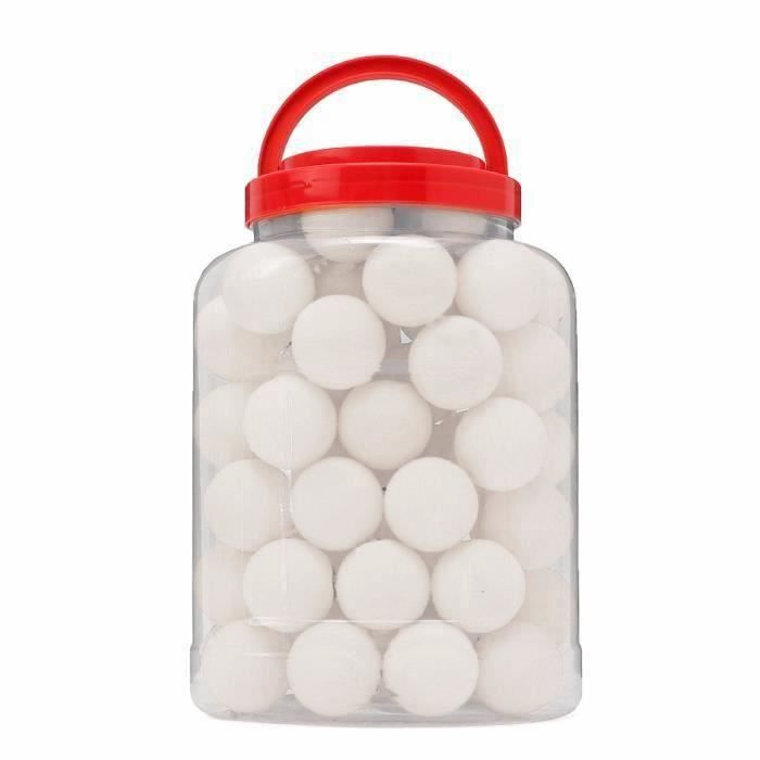 lot de 60Pcs Balle de Ping Pong Tennis Table Pour Enfant sport jouet noel blanc HB3AA9