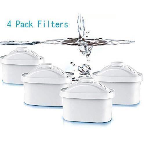 4Pcs Cartouche Filtrante Fit Brita Maxtra Carafe filtre à eau Cruche Cartouches Fit Brita Maxtra Cruchede Mavea Maxtra, HH24930