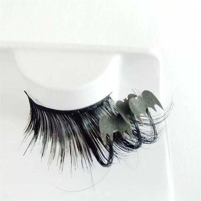G0753 OutTop nouvelle mode dame maquillage une paire Art noir chauves souris faux cils pour Halloween fête livraison directe 17081