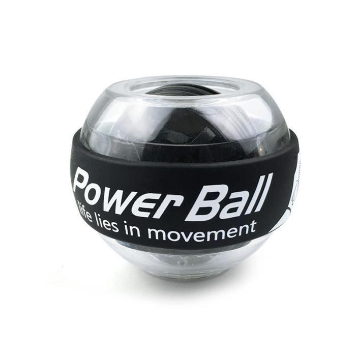 Entraîneur boule poignet, Gyroscope, renforcement des bras, équipement de gymnastique et d'exercice pour les bras, noir