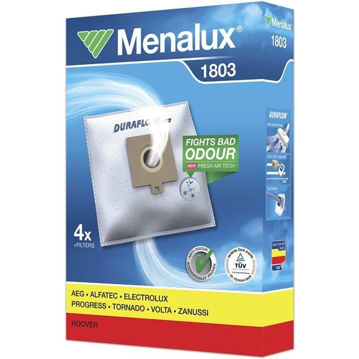 SAC Menalux 1803 4 Sacs Aspirateur Compatible pour Hoover Progress Freespace 1 Filtre Moteur 1 Micro Filtre1125