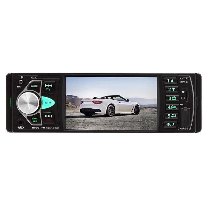 Lecteur Mp5 Fm Bluetooth 2.0 StÉRÉO Auto Radio Voiture 4,1 Pouces 1Din CamÉRa De Vision ArriÈRe LIJFK23353