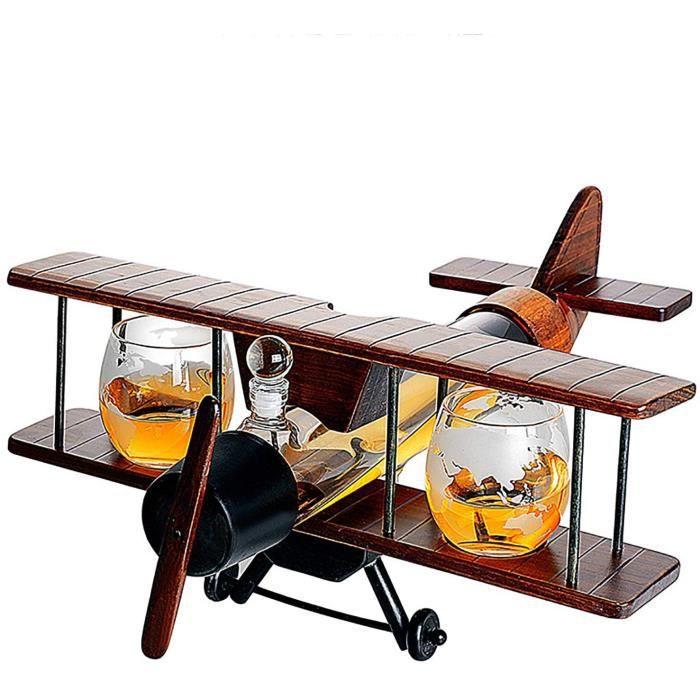 Ensemble Decanter Carafe à Whisky, Kit Accessoire Whiskey, Bouteille Wiskies Vin 1000 ML, 2pièCes Verrees Cristal 310 ML Carte 420