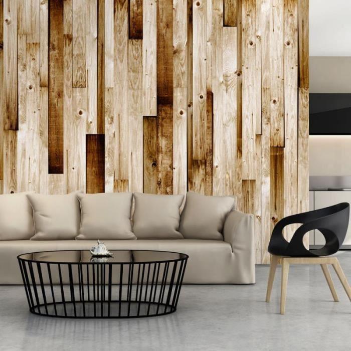 Artgeist Papier peint - Planches en bois .Taille : 150x105 - 5903428509337