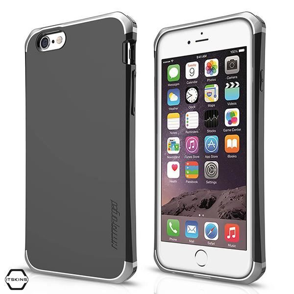 IT SKINS COQUE ARRIERE NITRO IPHONE 6S NOIR ET ARGENTCOQUE TELEPHONE - BUMPER TELEPHONE