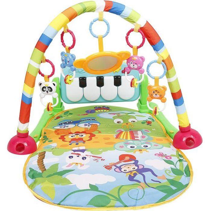 JEOBEST® Tapis d'Éveil Évolutif Bébé de jeu, Tapis de jeu musical pour bébé