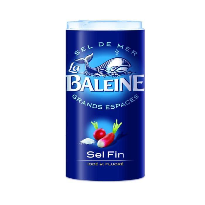 LA BALEINE Sel fin iodé et fluoré La Baleine - 550 g