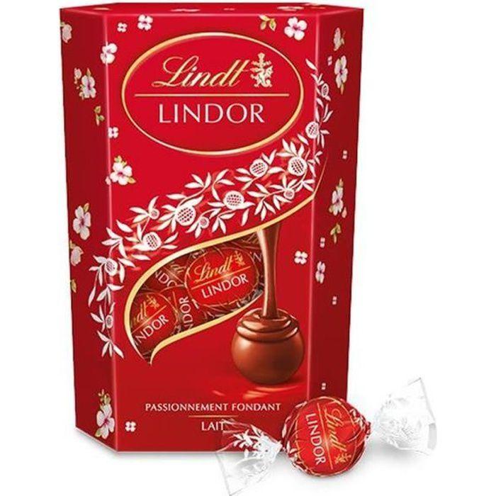 Chocolat Lindt Lindor Lait Cornet 200g pour Pâques