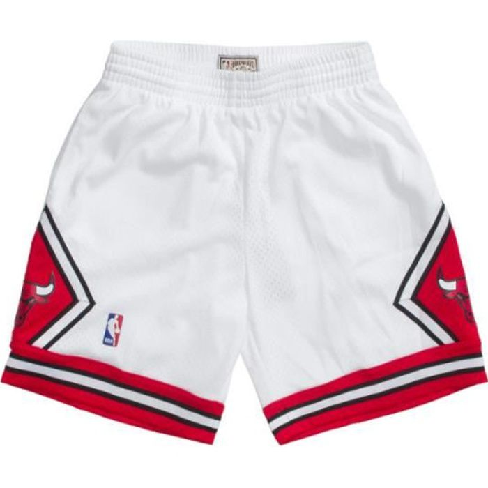 Short NBA Chicago Bulls 1997-98 Mitchell & Ness Swingman Blanc pour Homme
