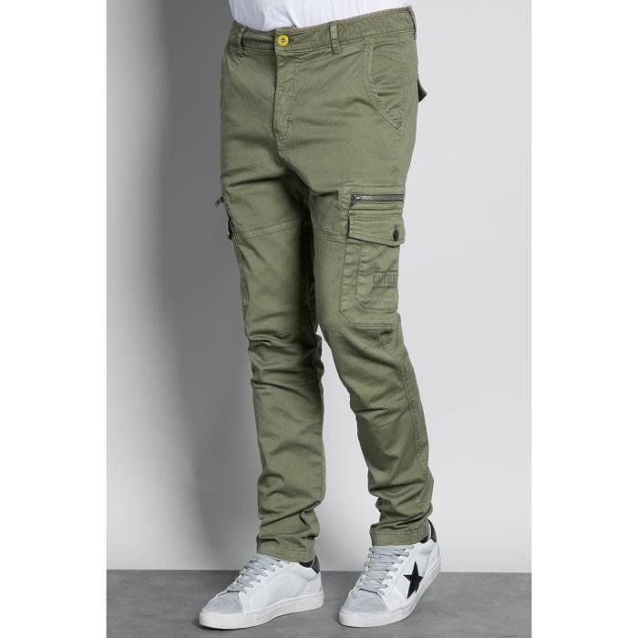 DEELUXE Pantalon cargo slim DANAKIL Green Grass