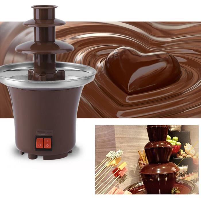 fontaine de chocolat électrique trois couches 220V 65W