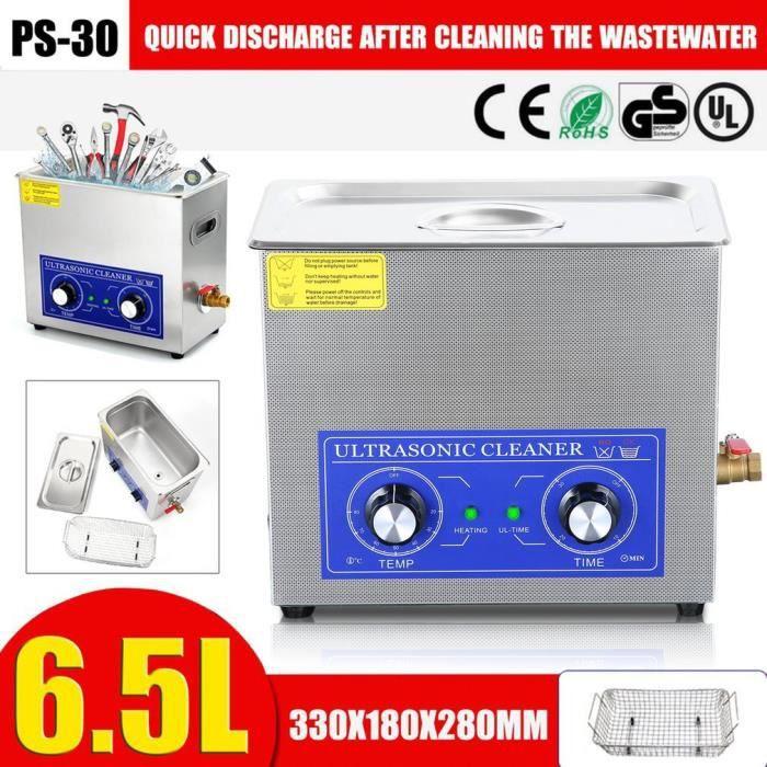180W Machine de nettoyage à ultrasons PS-30 6.5L Grande Capacité 40KHZ pour bijoux montre lunettes etc.