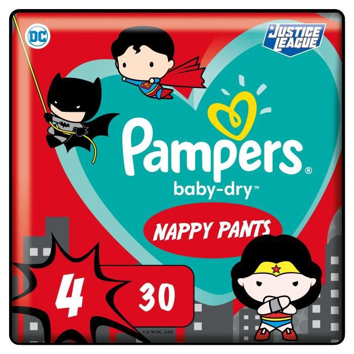 PAMPERS Couches-culottes Baby-Dry Pants Taille 4 - 30 culottes