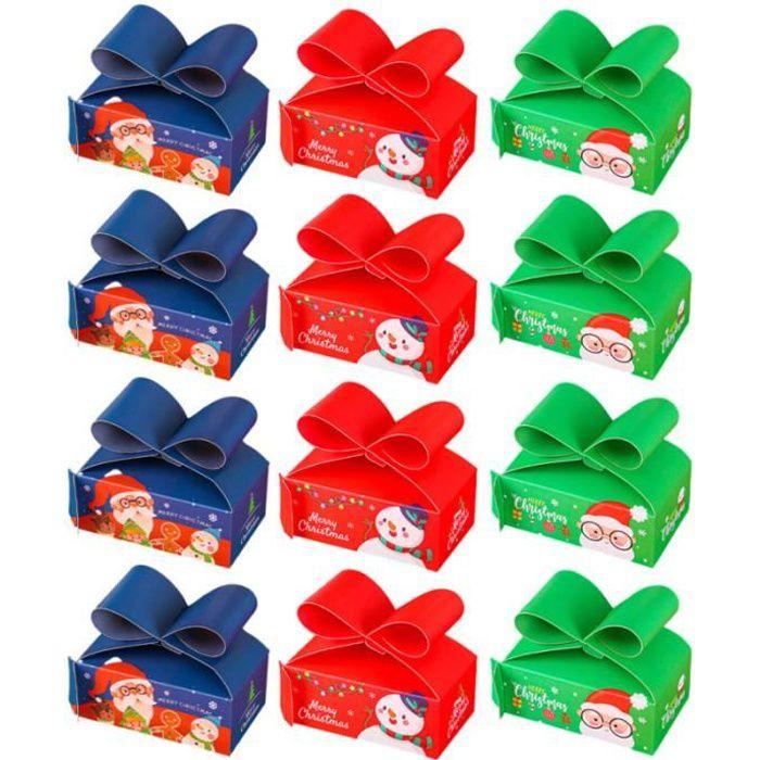 12pcs Cadeau de cadeau de Noël Coffret Boîte d'emballage de de Décor de pour Home bonbons cremeux confiserie chocolat