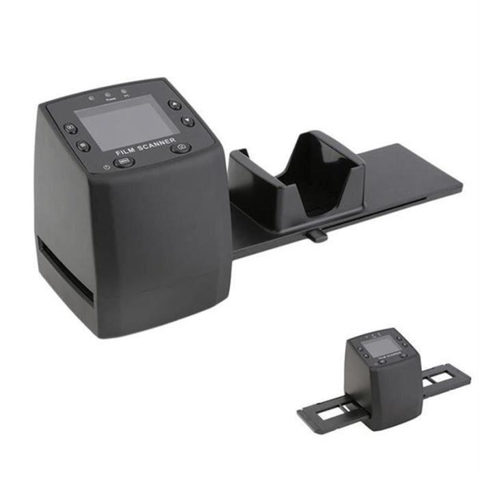 135mm 3600dpi 10Mp Film Scanner Mini Convertisseur Négatif Portable avec Plug Ue (Noir)