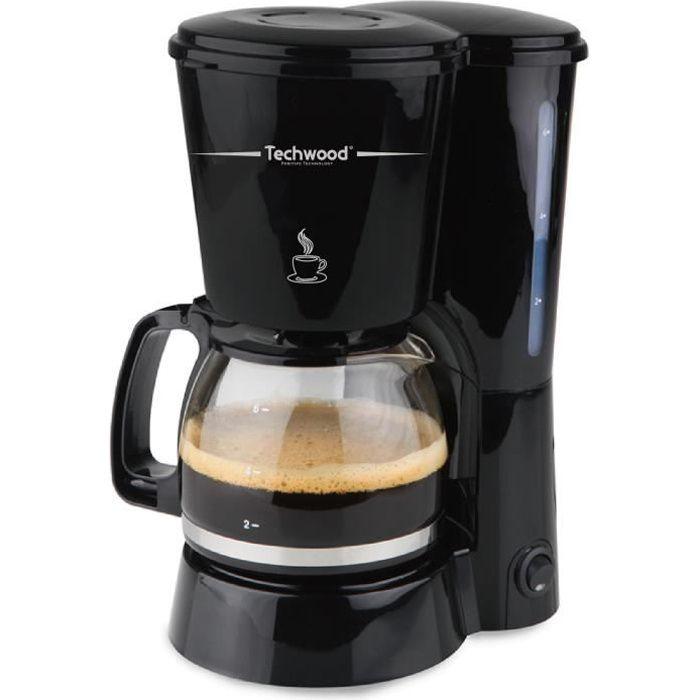 TECHWOOD TCA-686 Cafetière filtre - Noir