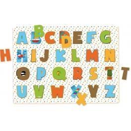 Puzzle à encastrement lettres - Apprentissage alphabet - Vilac