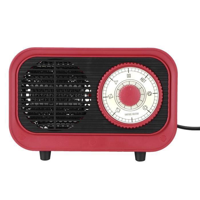500W Vintage en forme de chauffage rapide chauffage électrique sécurité bureau ventilateur d'air chaud prise CN 220V