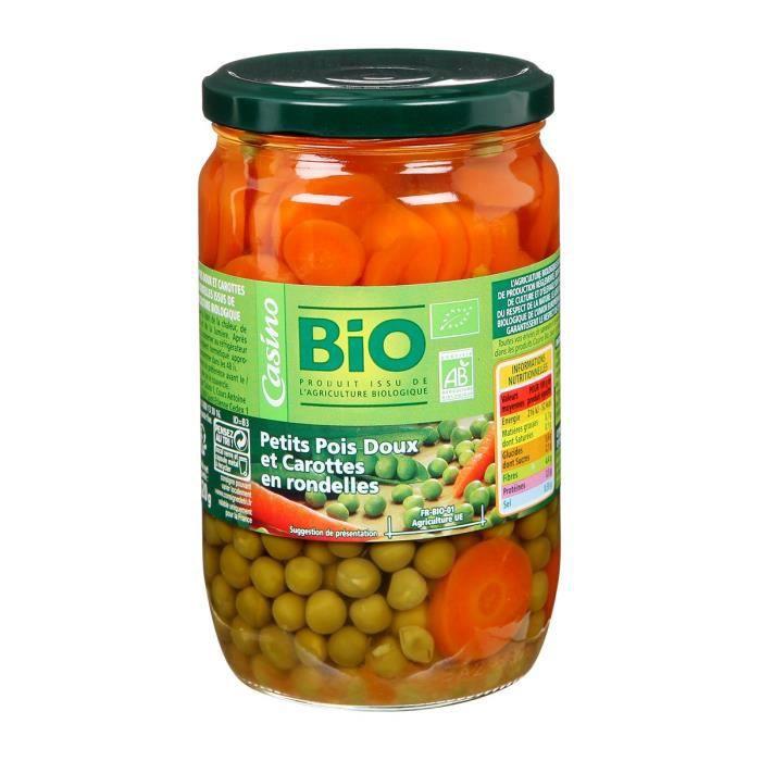 Petits pois et carottes rondes bio - 660 g