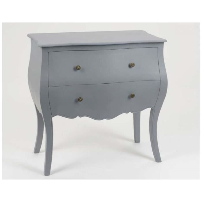 commode baroque gris clair 2t dimensions hau achat vente commode semainier commode. Black Bedroom Furniture Sets. Home Design Ideas