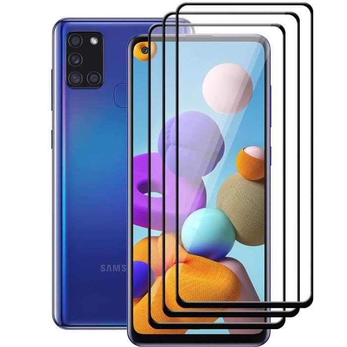 """coque de protection souple Noir pour Samsung Galaxy A21S 6.5/"""" Film Verre trempé"""