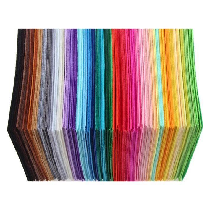 EduKit Feuilles en Feutre Acrylique Lot de Tissu Feutre DIY Feutrine color/ée 60 pi/èces Assortiment de feutrine en 15 couleurs pour Arts et Loisirs