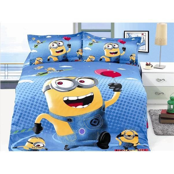 parure de lit enfant minions achat vente parure de. Black Bedroom Furniture Sets. Home Design Ideas