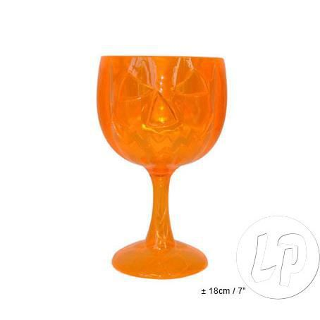 verre sur pied citrouille orange 18cm achat vente verre eau soda cdiscount. Black Bedroom Furniture Sets. Home Design Ideas