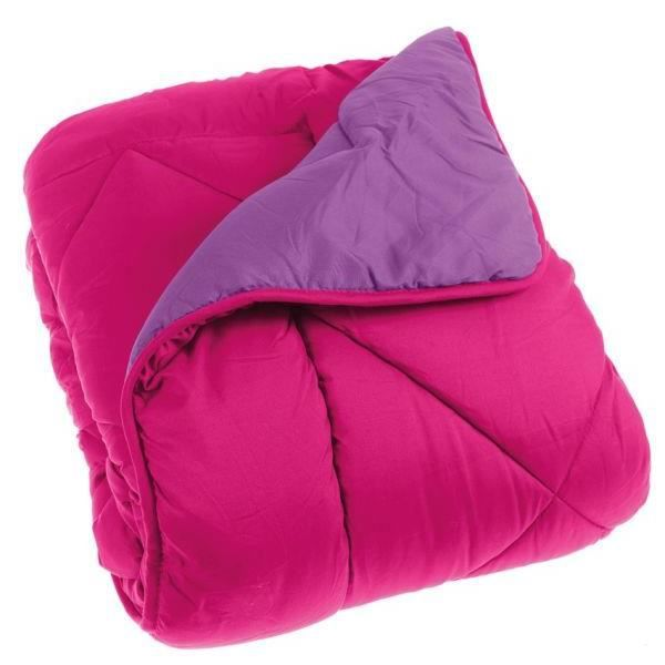 couette 260x240 cm double face microfibre fuschia violet achat vente couette cdiscount. Black Bedroom Furniture Sets. Home Design Ideas