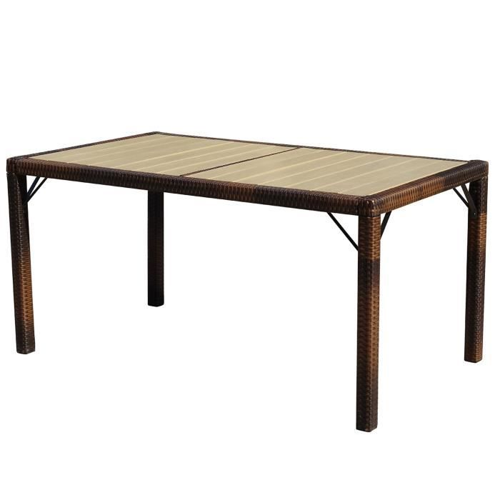 Table de jardin ariana polyrotin wpc bois composite - Table en bois composite ...