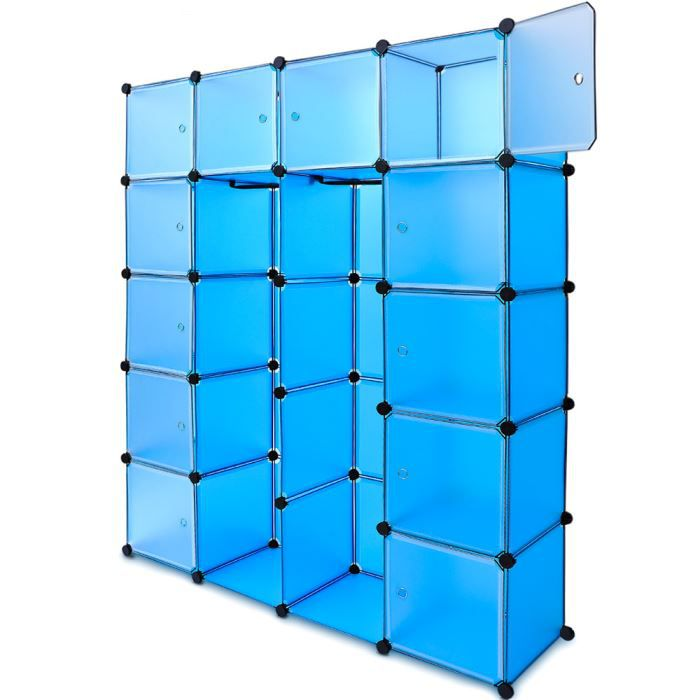 tag res bleues penderie plastique 12 casiers 1 achat vente etag re murale tag res bleues. Black Bedroom Furniture Sets. Home Design Ideas