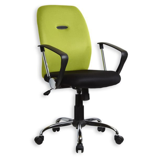 fauteuil bureau avec accoudoirs noir citron vert achat vente chaise de bureau cdiscount. Black Bedroom Furniture Sets. Home Design Ideas