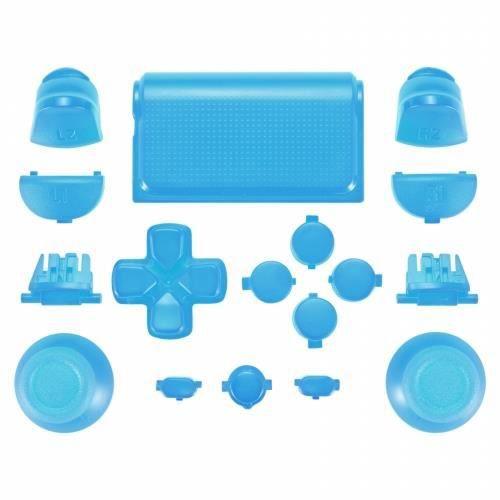 MANETTE JEUX VIDÉO Kit Boutons Custom pour Manette PS4 - Bleu Clair