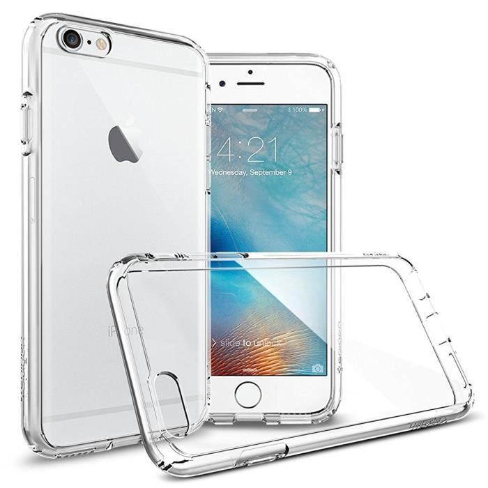 Spigen Ultra Hybrid Coque pour iPhone 6 / 6s crystal Transparent