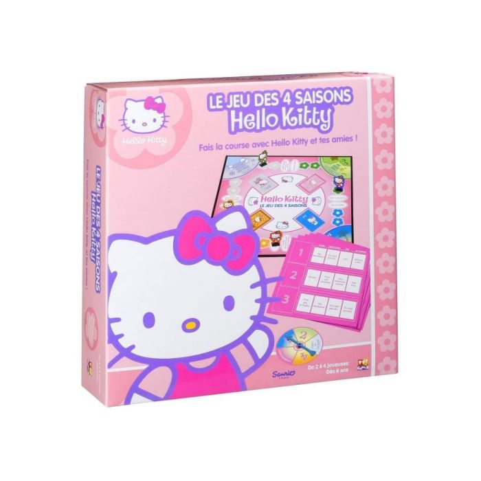 le jeu des 4 saisons hello kitty achat vente jeu soci t plateau cdiscount. Black Bedroom Furniture Sets. Home Design Ideas
